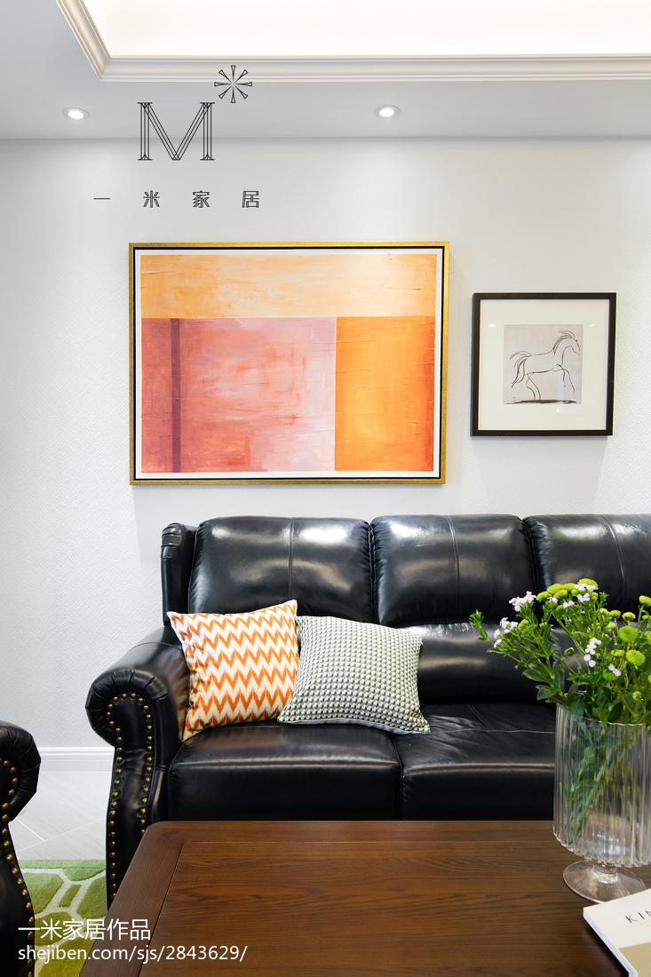 精美98平米三居客厅美式装修效果图片客厅