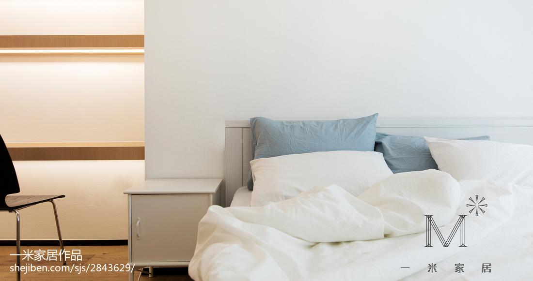 精美108平米三居卧室简约装修图片欣赏卧室床现代简约卧室设计图片赏析