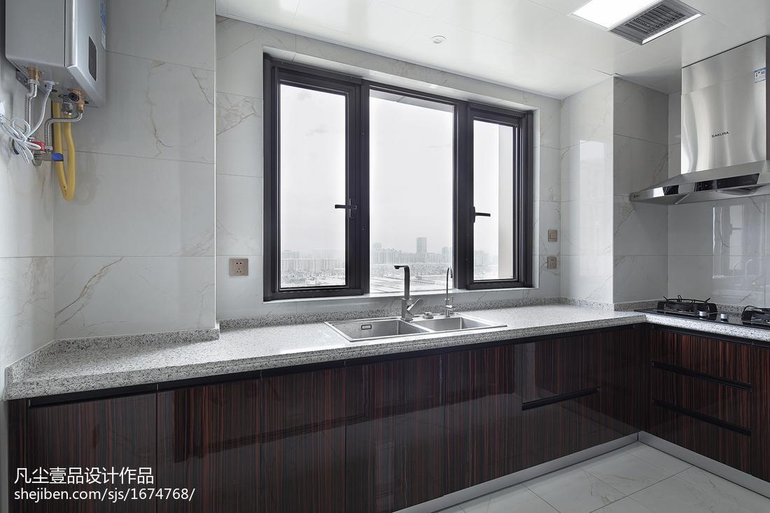 悠雅151平中式四居厨房装饰图餐厅中式现代厨房设计图片赏析