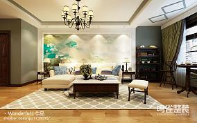 美式客厅天花灯图片