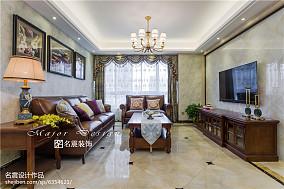 三居美式风格客厅设计图