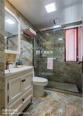 热门98平米三居卫生间美式装修效果图片大全