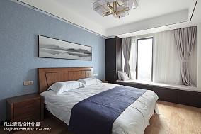 质朴141平中式四居卧室效果图