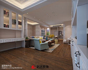 精选面积91平美式三居休闲区装饰图片欣赏