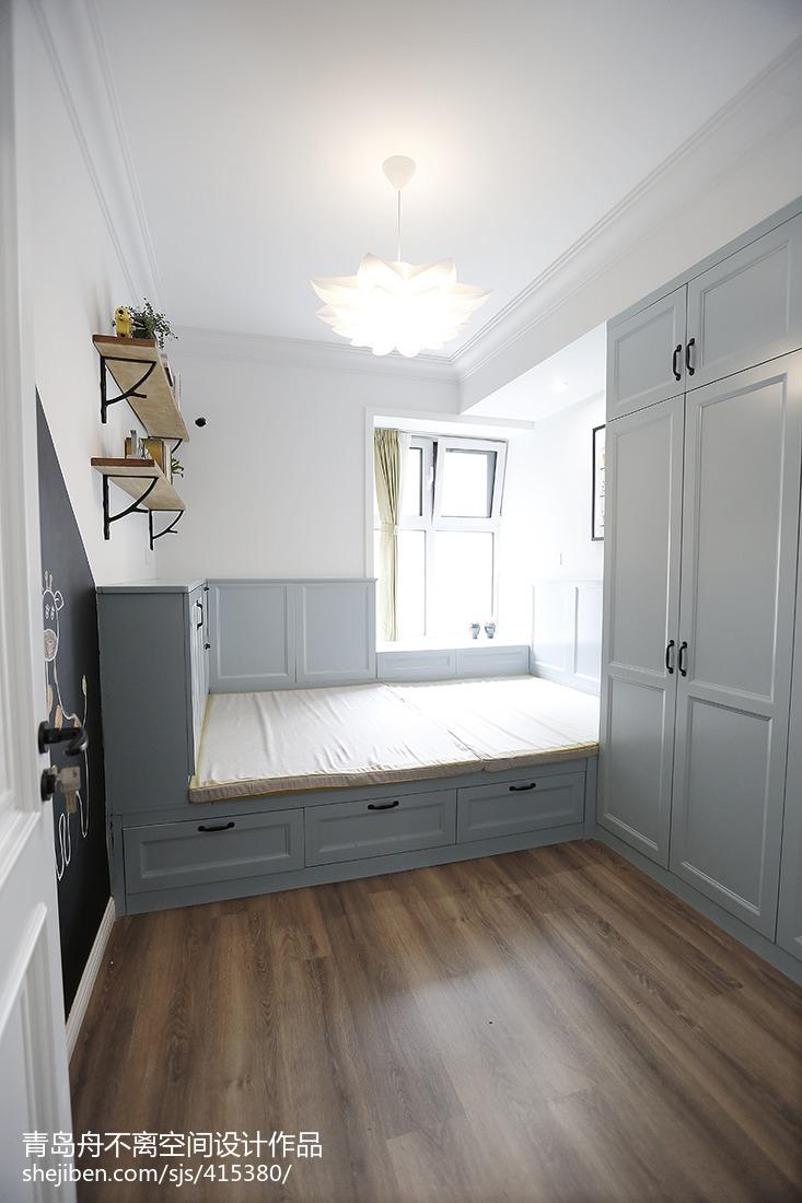 美式风格三居卧室设计图