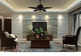 现代客厅与卫生间隔断效果图