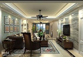 清美客厅与卫生间隔断效果图