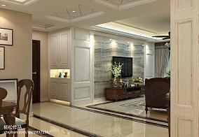 简单客厅与卫生间隔断效果图