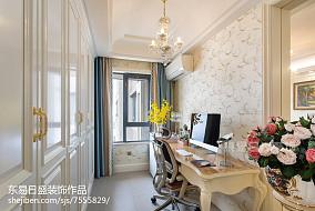 精选面积89平二居书房装修效果图二居欧式豪华家装装修案例效果图