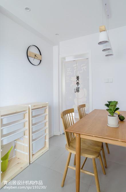 热门面积103平日式三居餐厅装修设计效果图片厨房