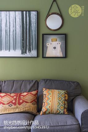 简洁83平北欧三居休闲区效果图片大全功能区北欧极简设计图片赏析