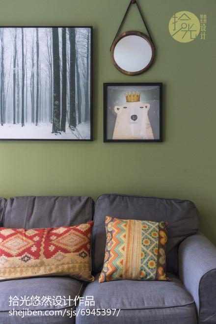 简洁83平北欧三居休闲区效果图片大全功能区