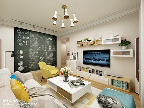 清新别墅楼梯墙面设计图片