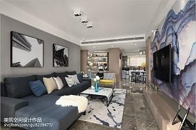 简单现代三居客厅设计图片