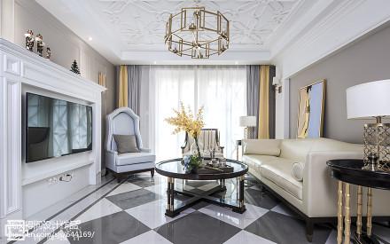 平米三居客厅美式装修图片客厅
