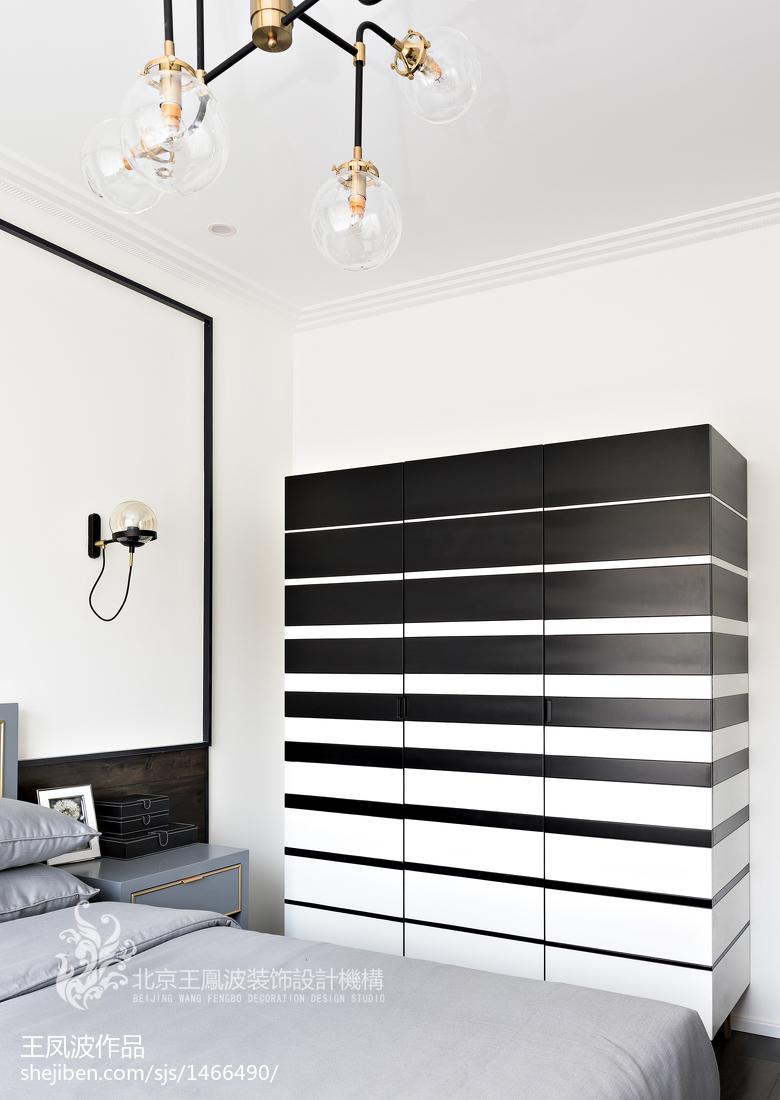 现代风样板间卧室衣柜设计图功能区衣柜现代简约功能区设计图片赏析