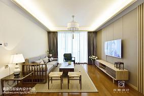 2018精选面积90平中式二居客厅装修实景图片大全