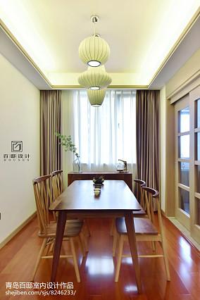 2018精选面积89平中式二居餐厅装饰图片