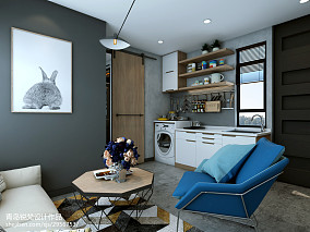 热门面积70平小户型客厅北欧装饰图片欣赏