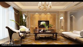 122平米四居客厅欧式装修设计效果图