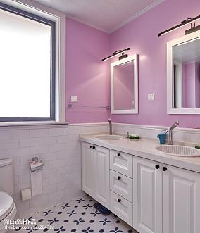 混搭四居卫浴设计效果图卫生间潮流混搭设计图片赏析