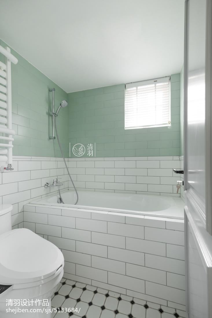 轻奢80平美式二居装潢图卫生间美式经典卫生间设计图片赏析