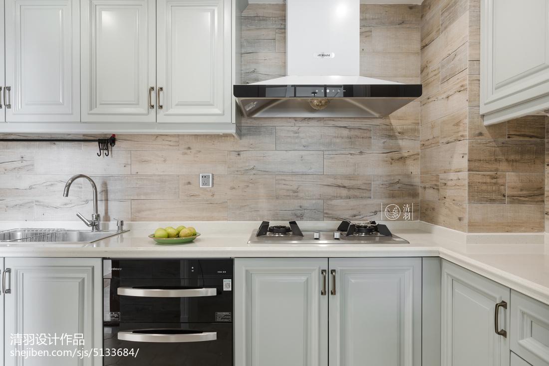 质朴56平美式二居效果图餐厅美式经典厨房设计图片赏析