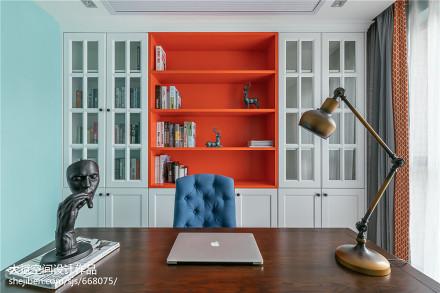 精选83平米二居书房美式实景图片欣赏