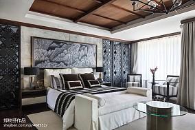 2018面积139平别墅卧室东南亚装修效果图片大全家装装修案例效果图