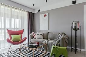 2018精选大小90平北欧二居客厅效果图片