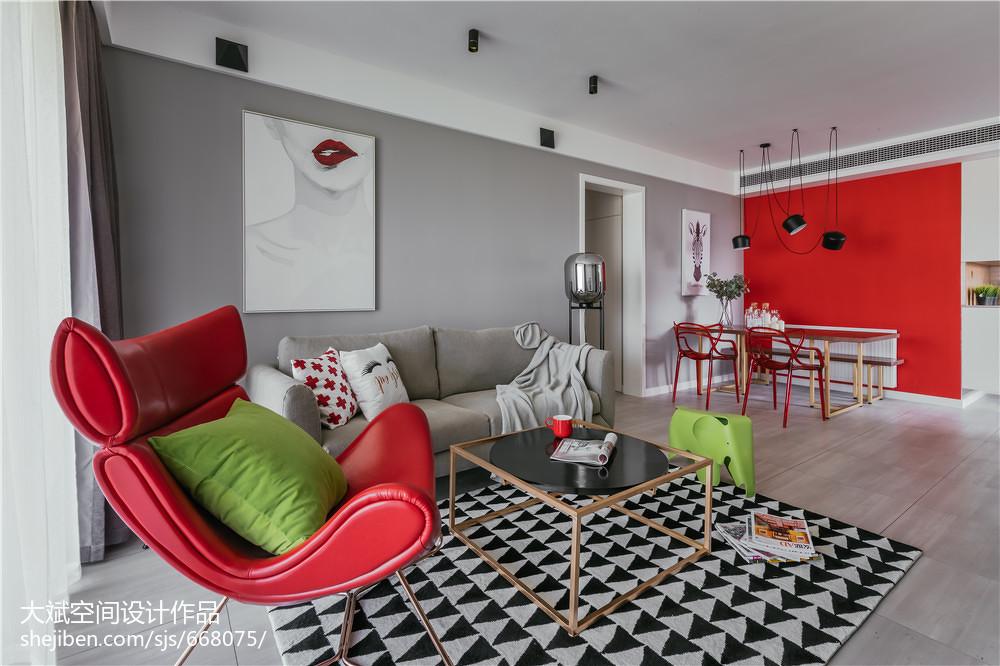 2018二居客厅北欧实景图片客厅沙发北欧极简客厅设计图片赏析