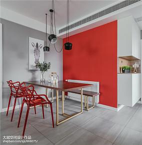 2018精选80平米二居餐厅北欧装修实景图厨房3图北欧极简设计图片赏析