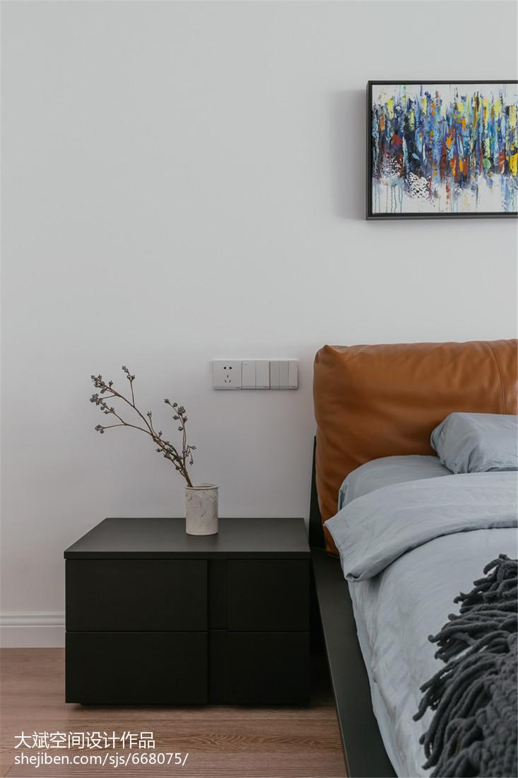 欧式卧室床头柜卧室现代简约卧室设计图片赏析