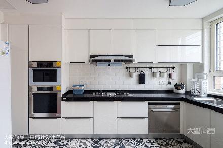 2018精选95平米三居厨房北欧装修设计效果图片餐厅