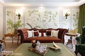 热门100平米三居客厅田园装修欣赏图片