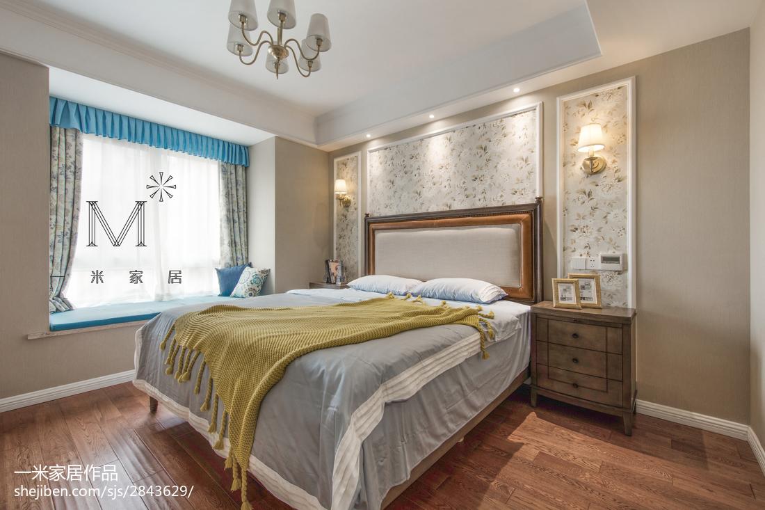 温馨125平美式三居卧室装饰图片卧室美式经典卧室设计图片赏析