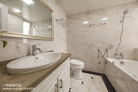 精选92平米三居卫生间美式装修实景图片大全
