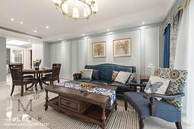 201894平方三居客厅美式装修图片大全