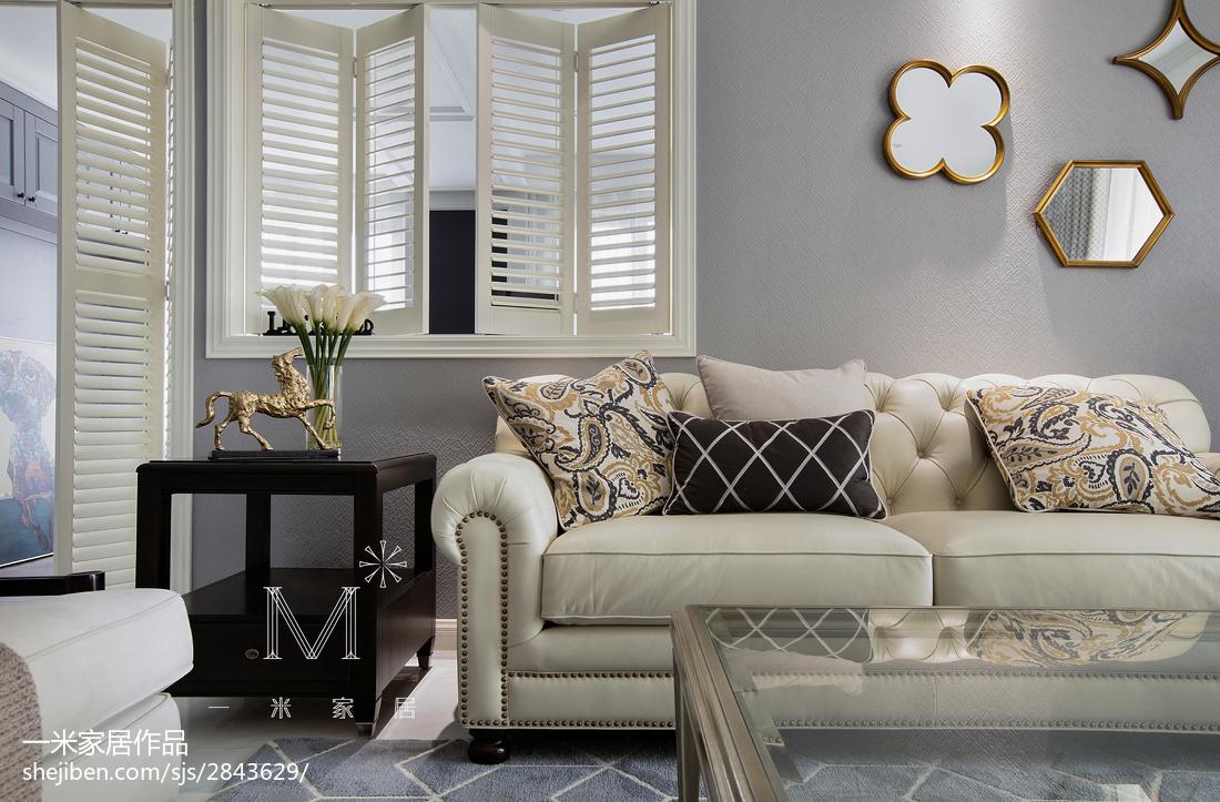 109平米三居客厅美式装修效果图片大全客厅