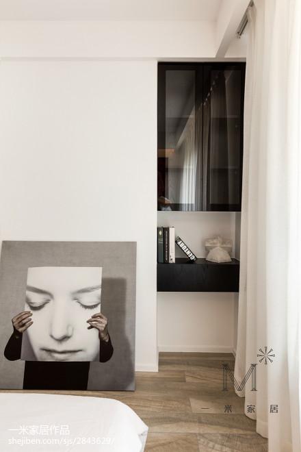 精美面积95平北欧三居卧室实景图片欣赏