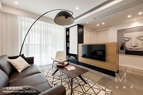 轻奢91平北欧三居客厅装修图三居北欧极简家装装修案例效果图