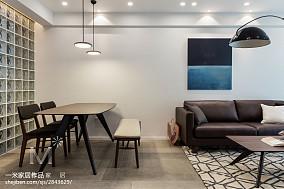 2018精选大小97平北欧三居餐厅装饰图片大全三居北欧极简家装装修案例效果图