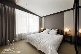 2018大小92平现代三居卧室装修实景图三居现代简约家装装修案例效果图
