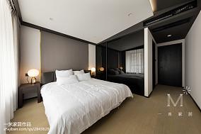 面积109平现代三居卧室装修设计效果图片欣赏家装装修案例效果图