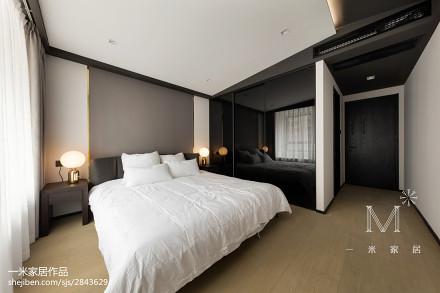 面积109平现代三居卧室装修设计效果图片欣赏