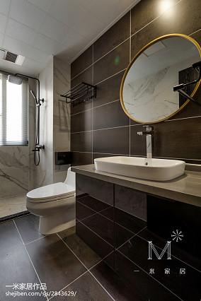 平方三居卫生间现代装饰图片家装装修案例效果图