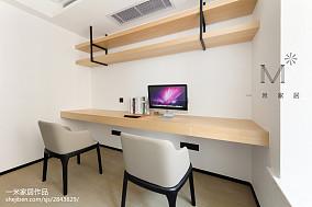 精选面积107平现代三居书房装修实景图家装装修案例效果图