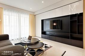 2018精选大小100平现代三居客厅效果图三居现代简约家装装修案例效果图
