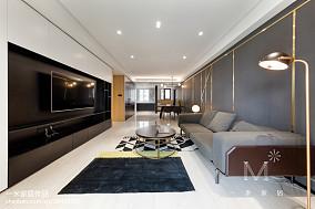 精选108平客厅三居现代装修图家装装修案例效果图