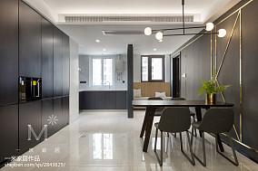 面积95平现代三居餐厅装修欣赏图片大全三居现代简约家装装修案例效果图